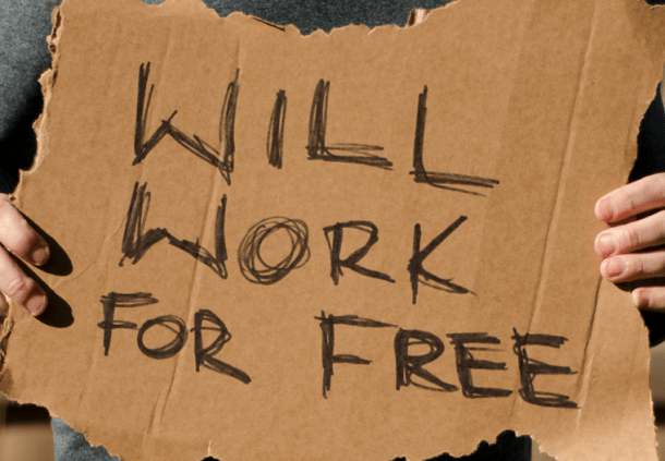 Please Don't Give Away Your Work for Free